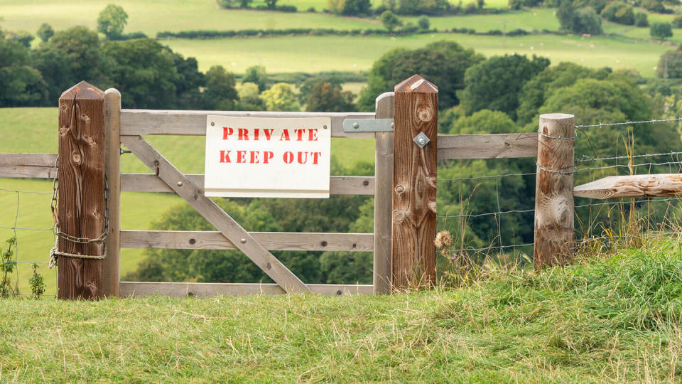 Private Keep Out sign, Gloucestershire, England