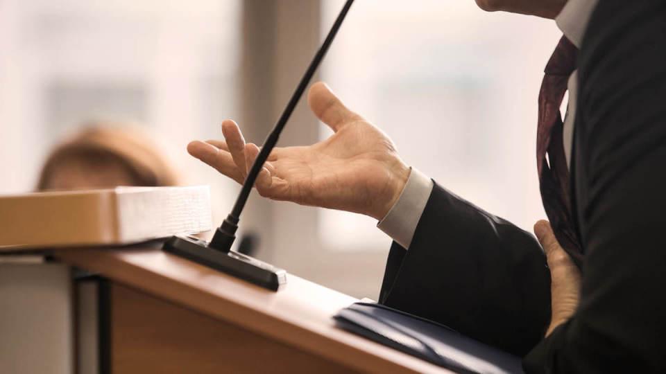 Newsroom - Lectern public inquiry