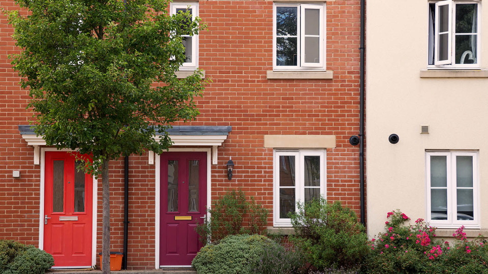 Newsroom Image - terrace house with red door