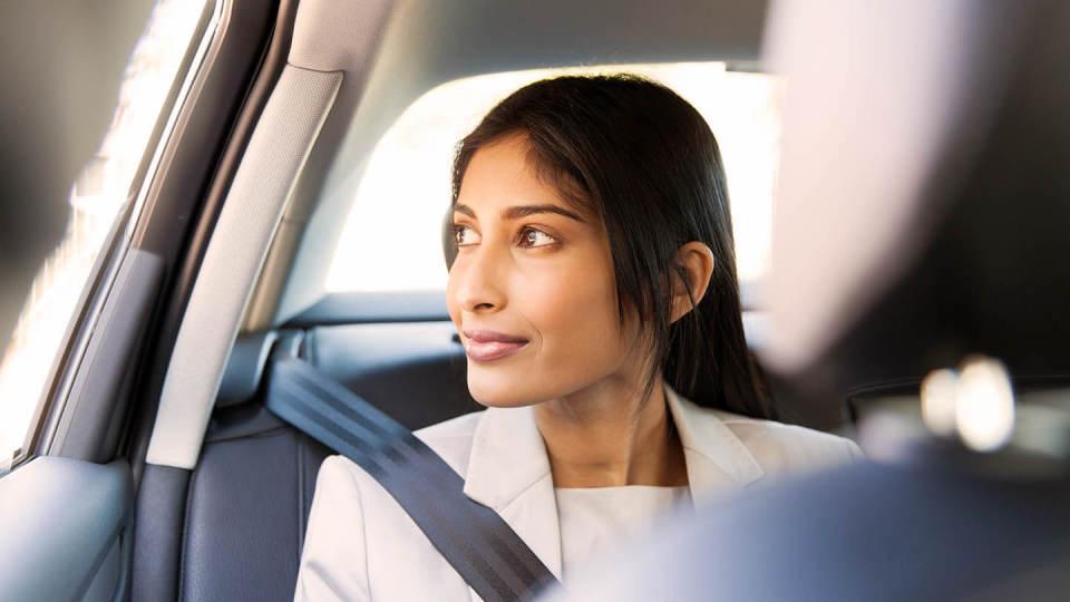 woman car passenger drive