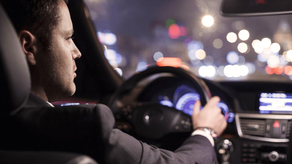 Newsroom - man driving mercedes