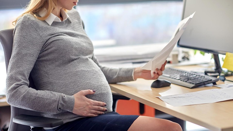 Newsroom - pregnant at work